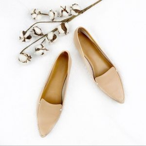 J Crew | Nude Edie Pointy Loafer Flats